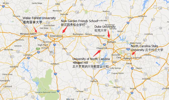 9)维克森林大学(全国排名no.23)以及大量的优质州立/私立大学.